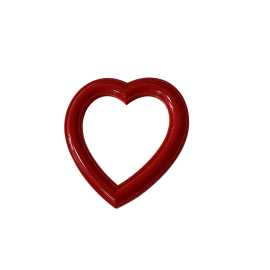NORTHERN GOODIES Heart Shape Mirror - Red