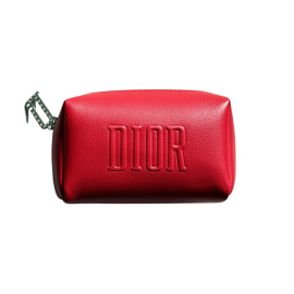 DIOR Cosmetic Bag (កាបូបដាក់គ្រឿងសម្អាង) - Red, Small Size 15cm