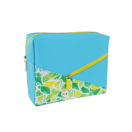 YVES ROCHER Square Cosmetic Bag (កាបូបដាក់គ្រឿងសម្អាង) - Size 21, Blue